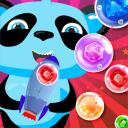 Bubble Shooter Panda Shoot Gems With Blue Rocket