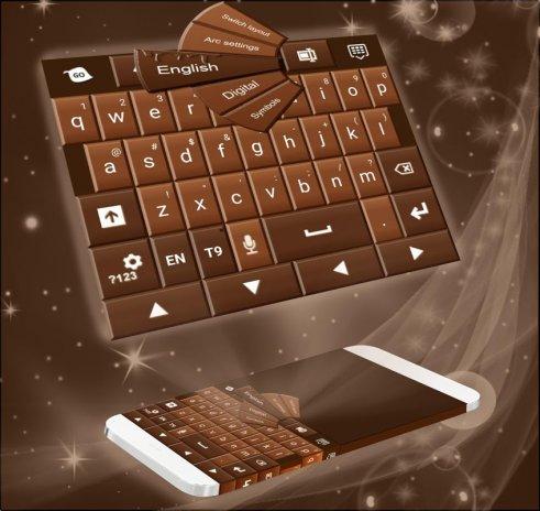 Chocolate Keys  GO Keyboard Theme 1 224 1 81 Download APK for