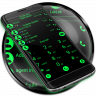 Theme for RocketDial and ExDialer Flat BGreen Icon
