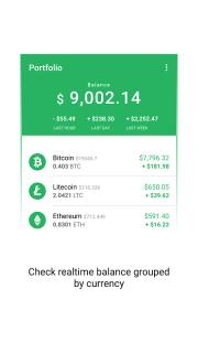 Vertfolio - Cryptocurrency Portfolio App screenshot 1