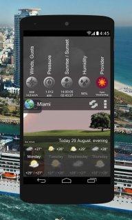 Animated Weather Widget&Clock screenshot 1