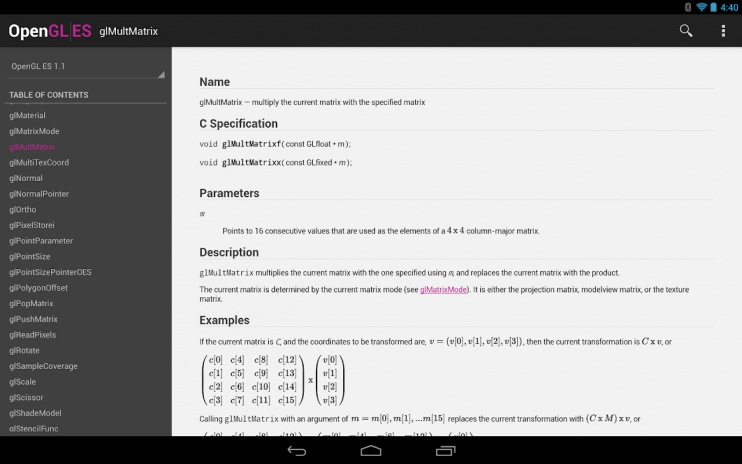 OpenGL ES Reference 1 2 Download APK for Android - Aptoide