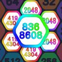 2048 Number Hexagon