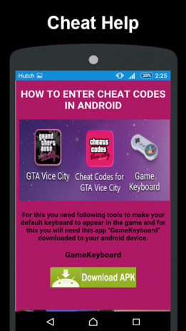 gta vc cheats for android