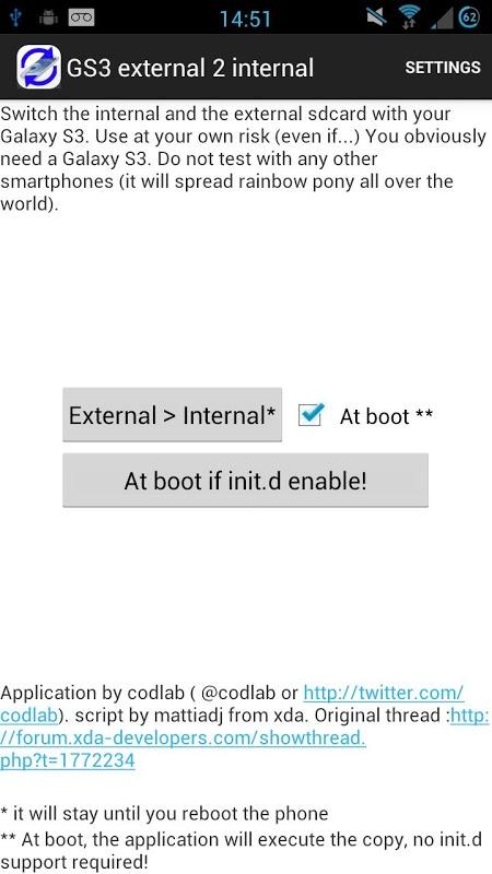 Root External 2 Internal SD screenshot 1