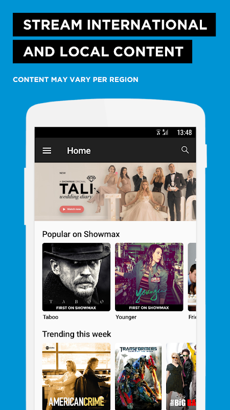 Showmax - Watch TV shows and movies screenshot 1