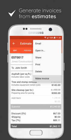 Invoice Estimate On The Go Download APK For Android Aptoide - Invoice simple apk