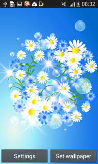 Glow Flowers Live Wallpapers screenshot 1