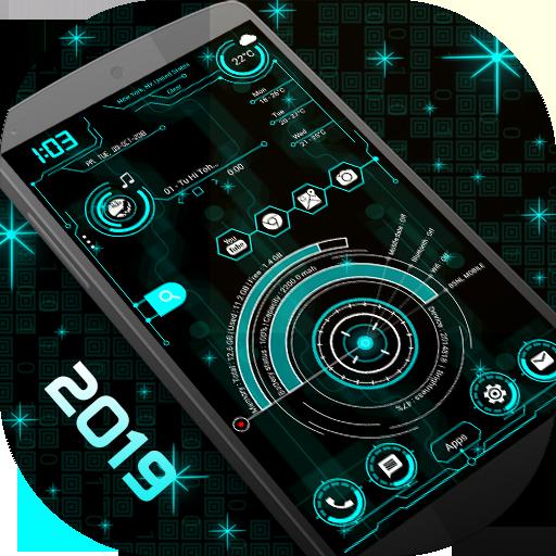 Hi-Tech Launcher 2019 - UI of Future, Theme, Fast