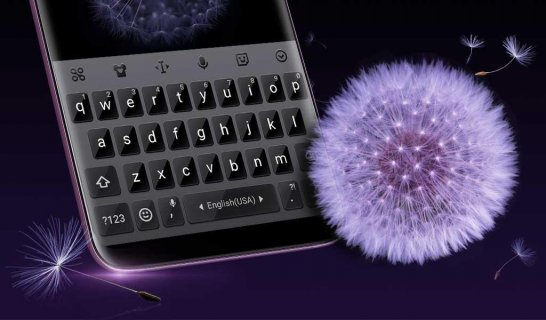 Matte Black Keyboard Theme for Samsung Galaxy S9 v1 0