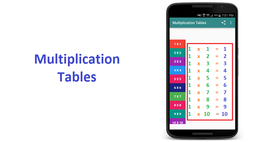 Multiplication tables download apk for android aptoide for 85 times table