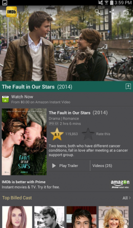 imdb the fault in our stars