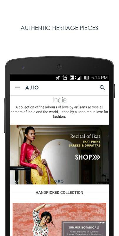 AJIO Online Shopping - Handpicked Curated Fashion screenshot 1