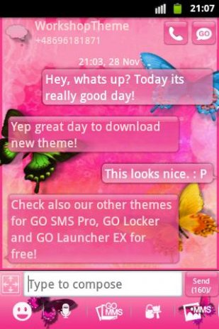 GO SMS Pro Theme Pink Nice 3 9 Download APK for Android