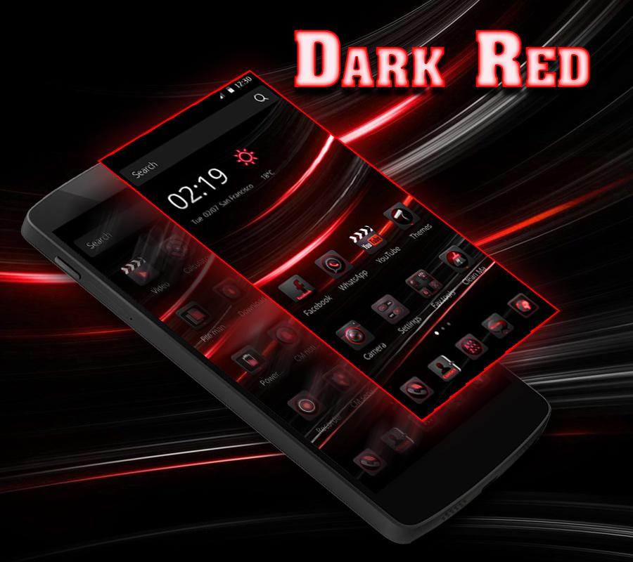 Dark Red Gradient Simple Android Wallpaper Free