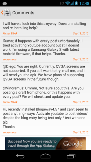 Blogaway for Android (Blogger) screenshot 11