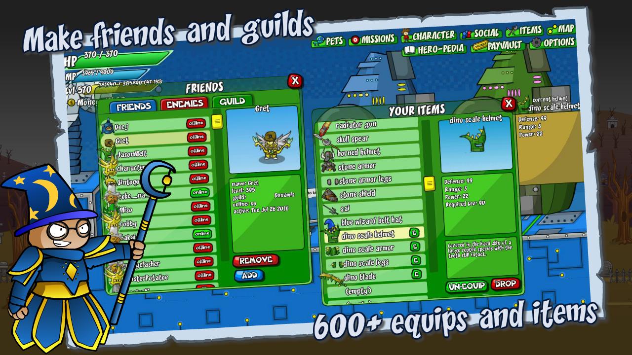 Helmet Heroes MMORPG - Heroic Crusaders RPG Quest screenshot 2