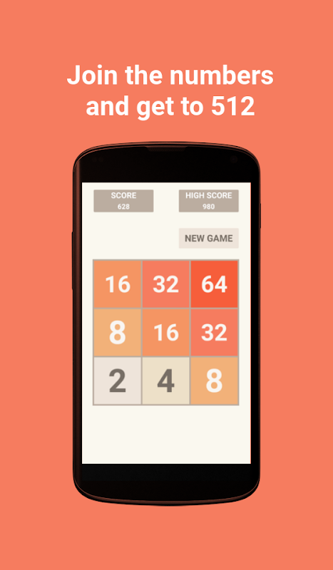 512 - Number puzzle game screenshot 1