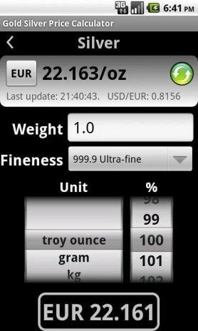 Gold Price Calculator Free Screenshot 1 2