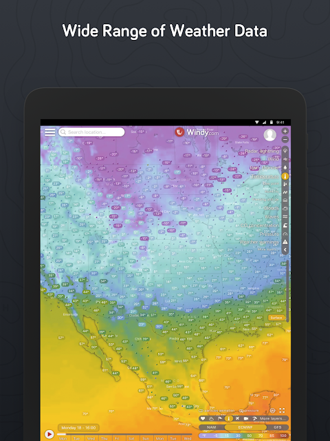 Windy.com - Wind, Waves and Hurricanes Forecast screenshot 2