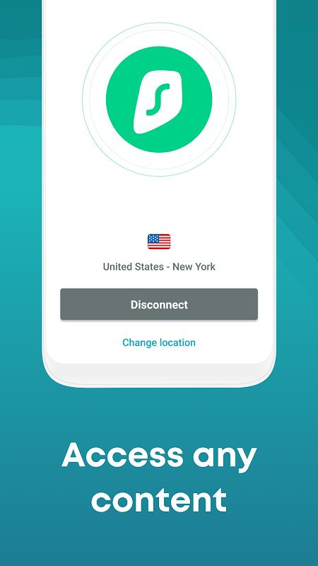 Secure VPN for Android: Surfshark - Best VPN App screenshot 2