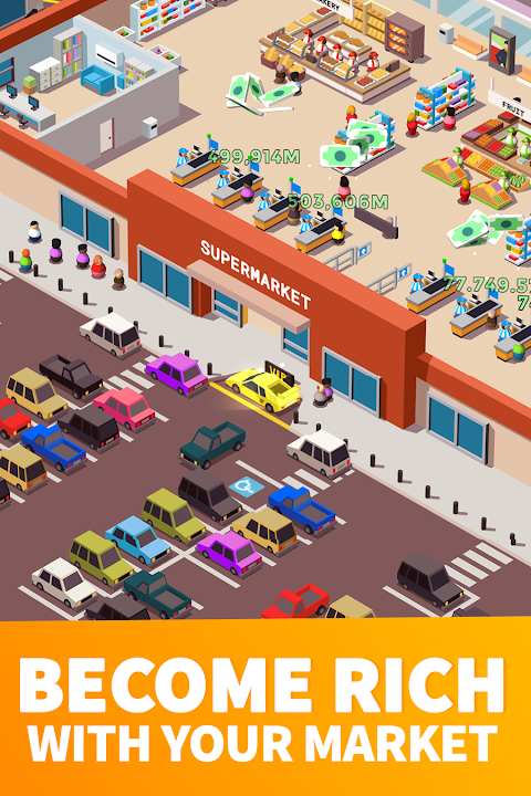 Idle Supermarket Tycoon - Tiny Shop Game screenshot 2