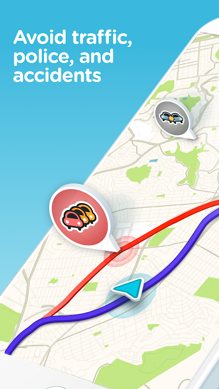 Waze - GPS, Maps, Traffic Alerts & Sat Nav screenshot 1