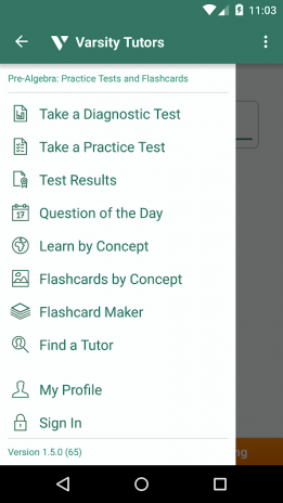 Pre-Algebra Prep: Practice Tests and Flashcards 1 6 7 1