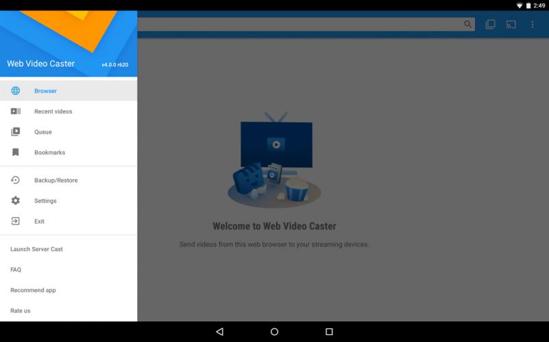 Web Video Cast   Navegador para TV/Chromecast/Roku screenshot 5