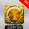 Gold Volume Booster & Music Player Icon