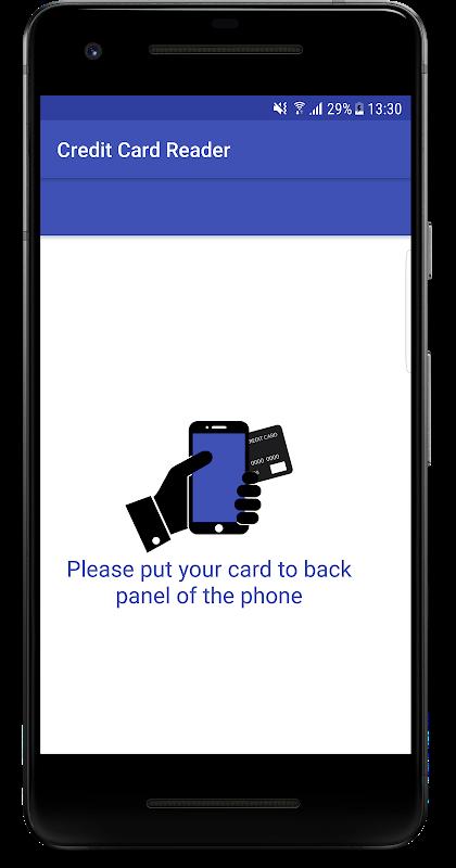 Read bank cards - NFC reader screenshot 1