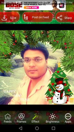 christmas photo frame effect editor with dp maker screenshot 7