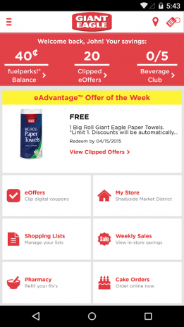 giant eagle eoffer of the week