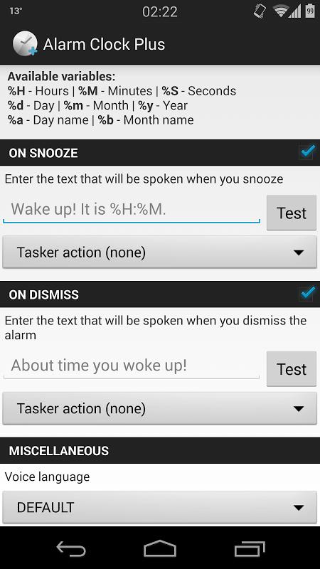 Alarm Clock Plus Donation screenshot 1