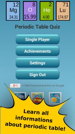 Quiz de la tabla peridica 245 descargar apk para android aptoide quiz de la tabla periodica captura de pantalla 1 urtaz Images