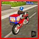 entregador de pizza moto