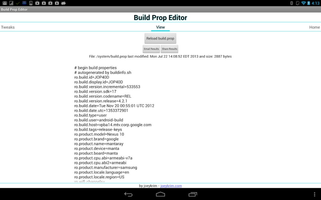 BuildProp Editor for Android - Download