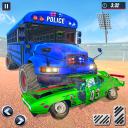 US Police Bus Derby Destruction: Bus Crash Stunts