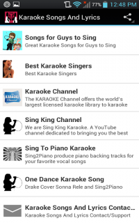 Karaoke Songs And Lyrics 1 6 Download APK for Android - Aptoide
