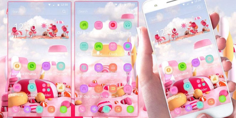 تحميل Apk لأندرويد آبتويد حلو حلوى موضوع Jelly Candy111