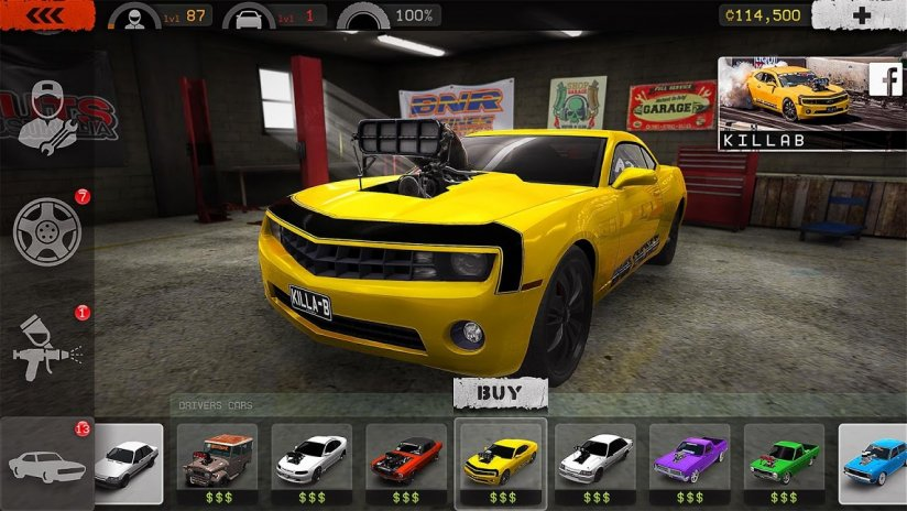 burnout racing game for android