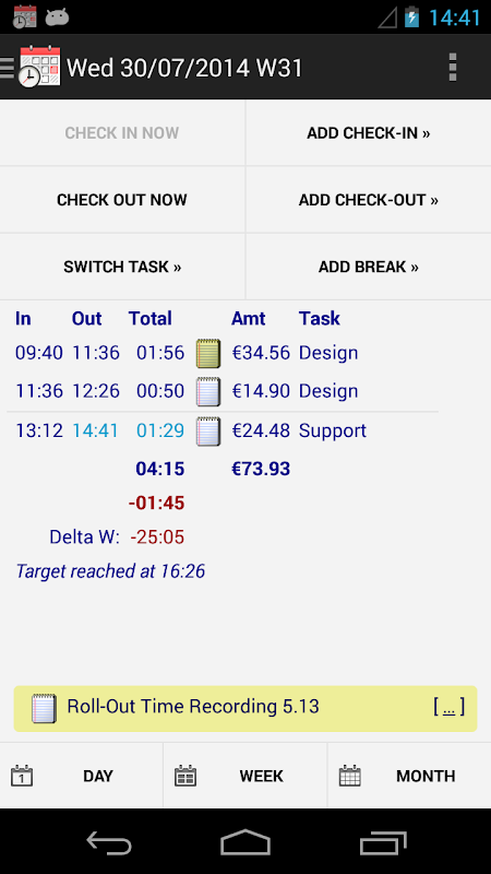 Time Recording - Timesheet App screenshot 1