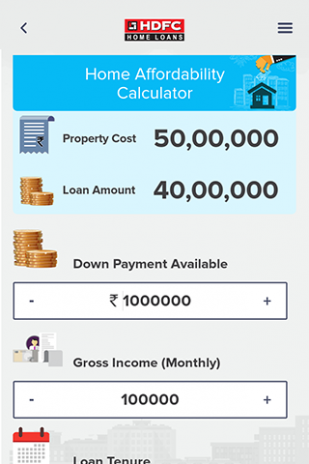 hdfc home loan calculators screenshot 3