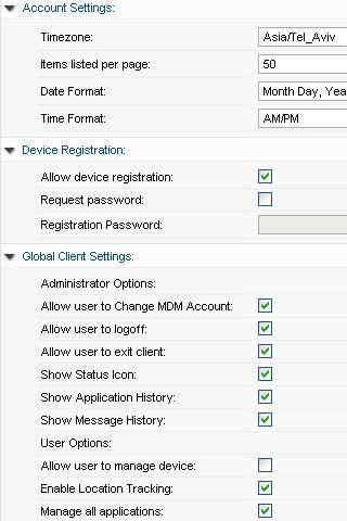 3CX Mobile Device Manager Screenshot