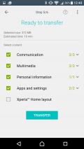 Xperia™ Transfer Mobile Screenshot