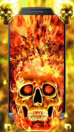 Fire Skull Live Wallpaper 3