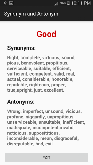 länstol synonym ~ synonym & antonym dictionary  download apk for android