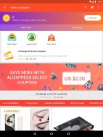 AliExpress Shopping App- $100 Coupons For New User Screen