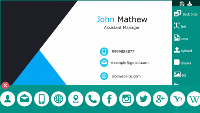 business card maker visiting card maker photo logo screenshot 5