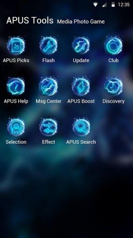 Starlight Galaxy Ice Wolf Apus Launcher Theme Screenshot 7